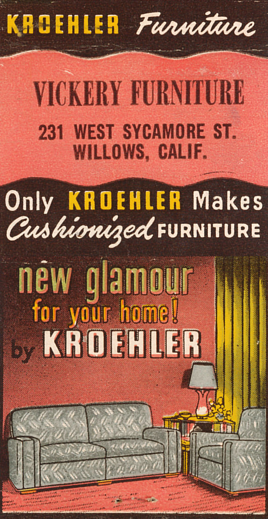 kroehler furniture jericl cat tags art paper design furniture interior room ephemera - Kroehler Furniture