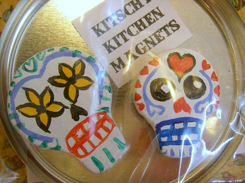 Day of The Dead Kitschy Kitchen Magnets (packaged)
