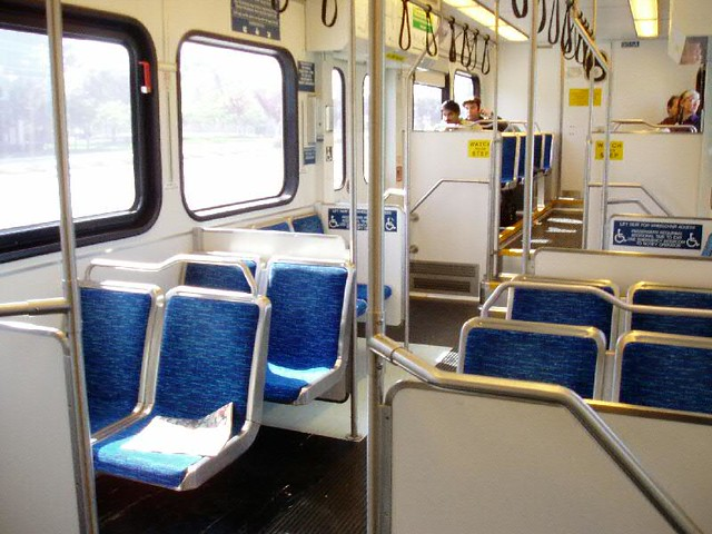 Inside of VTA LightRail