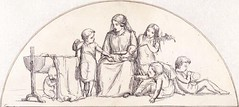 Childhood, Lunet design by Millais (Martin Beek) Tags: detail victorian tutorial preraphaelite royalacademy preraphaelitebrotherhood victorianart johneverettmillais victorianpainting preraphaelitism theartofjohneverettmillais johneverrettmillais preraphaelitepainters