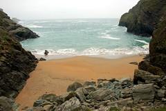 Beach of wet legs