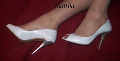 White leather peep toe 4