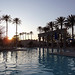 Luxor Las Vegas Pool at sunset by marydenise6