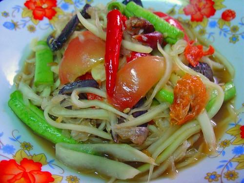 "Delicious Thai food!! :-) ...""Green PaPaYa Salad"" for you..."