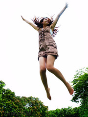 gimme a V ! (AraiGodai) Tags: portrait people girl beautiful asian interesting jump kay yay explore v thai exuberance araigordai raigordai araigodai