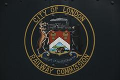Hand Painted Original City of London Crest (Scoobification) Tags: city london classic railway crest september streetcar 2008 halton haltoncountyradialrailway