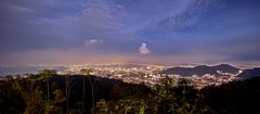Penang Hill view (Jhaví) Tags: georgetown penanghillview malaysia penang night city view sea travelingasia travel asia southestasia lights blue