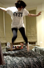 halsman says jump. (Georgie Lord (M'Glug)) Tags: fashion bed halsman jumpproject