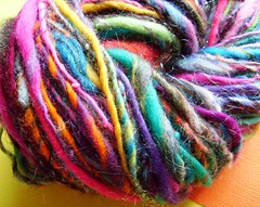 random 2 (14) (rosie.ok) Tags: wool rainbow warm handmade spin craft yarn spinning wooly artisan crafting handspun spun