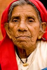 Staring straight into the camera (niyatee) Tags: india rural women village haryana