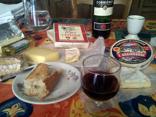 Lots and lots of cheese and bread and wine.