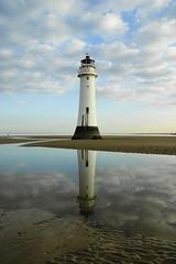 New Brighton Lighthouse x 2 (Mal 1005) Tags: sea sky lighthouse reflection beach clouds newbrighton sonyalphadslr