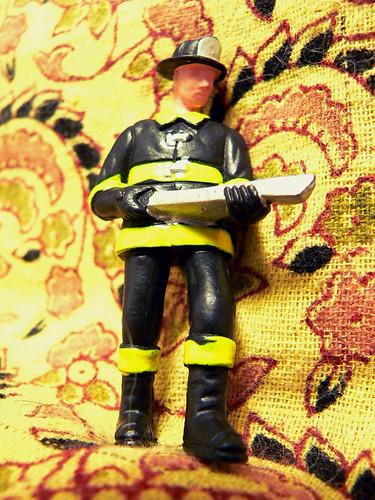 miniature fireman