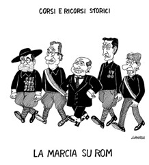 4-11-2007 (Mongibeddu) Tags: italy politics cartoon immigrants fascism corrieredellasera vignetta giannelli
