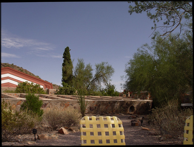Taliesin West, Yellow Basket Weave Chairs