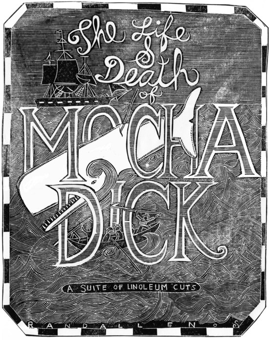 Randall Enos, The Life and Death of Mocha Dick. A Suite of Linoleum Cuts