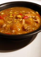 hearty winter soup, up close