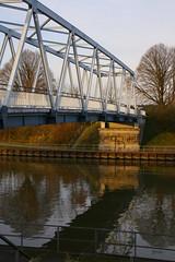 Kanalbrücke Flaesheim (tbinte) Tags: bridge autumn reflection tree canal herbst kanal spiegelung baum flaesheim brcke