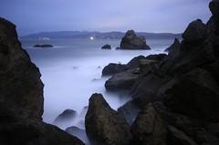 Rocky Wash (After Dark Photo) Tags: ocean sanfrancisco longexposure nightphotography blue landscape ruins sutrobaths soe