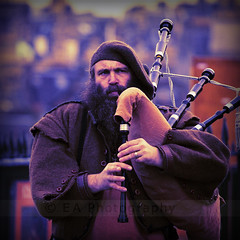 Gael Force Wind (Scottish Snapper) Tags: people man scotland edinburgh piper bagpipes christmaseve wintermarket anawesomeshot