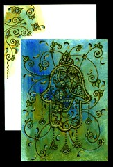 Khamsa (Rebel Dog Studio) Tags: art glitter painting acrylic artistic expression card henna mehndi kree hennadervish arvanitas alixopulos