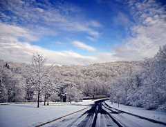 Outlined (Nicholas_T) Tags: road winter sky snow clouds newjersey highway driving creativecommons i80 allamuchy altocumulus interstate80 stratocumulus warrencounty 123nj