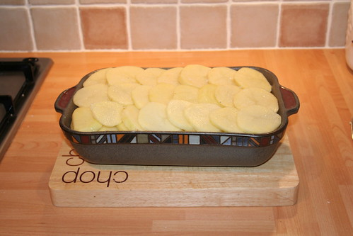 Lancashire Hot Pot - Add the second layer of potatoes