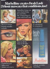 1970's Fresh Lash Mascara (twitchery) Tags: vintage ads eyelashes makeup 80s 70s mascara maybelline vintageads vintagebeauty