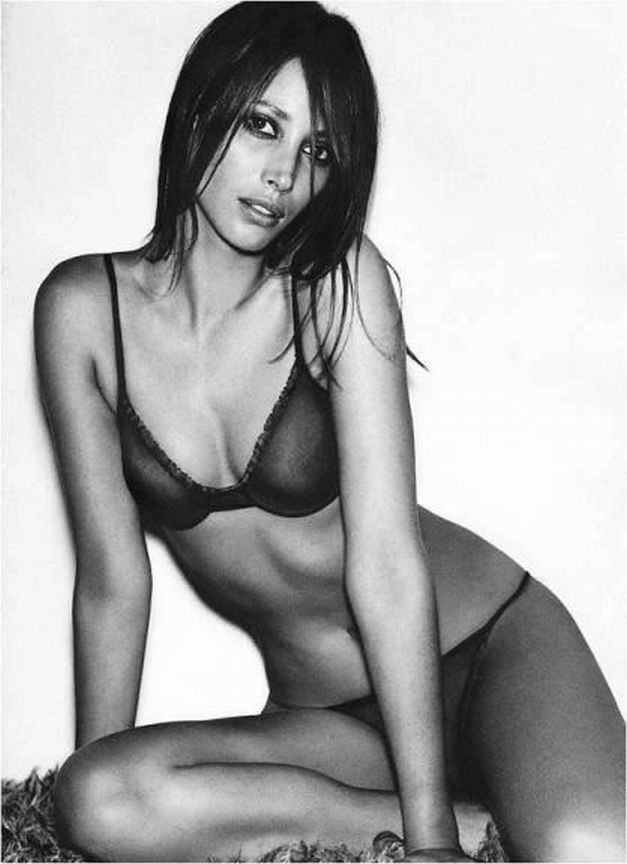 Christy Turlington, Calvin Klein, Lingerie, underwear, bra, panties, cotton, bikini, black,