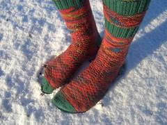 Redgreen socks