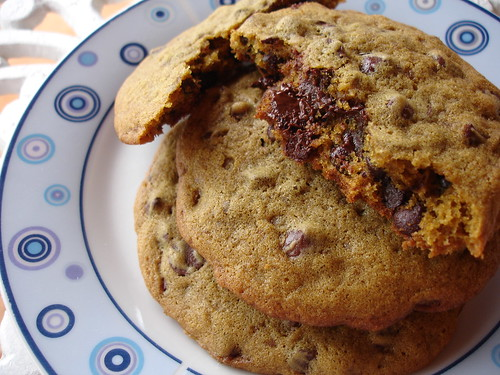 Chocolate chip-stuffed cookies