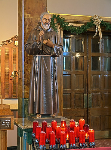 Saint Joseph Shrine, in Saint Louis, Missouri, USA - statue of Saint Pio of Pietrelcina