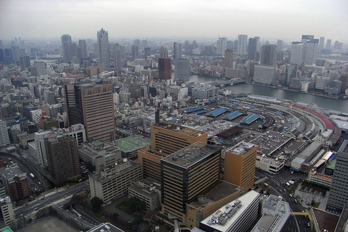 Tsukiji, from far above