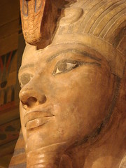 Colossal Statue of Tutankhamun (StGrundy) Tags: blue sculpture orange usa brown chicago black detail face statue closeup museum illinois kingtut ancient king sony egypt royal egyptian historical universityofchicago mutedcolors facial royalty colossal orientalinstitute gettyimages heiroglyphics 1930 tutankhamun medinethabu excavated colosus dsch2 artistsoftheyear platinumheartaward superperfectphotographer