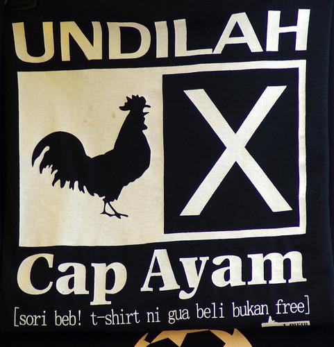 cap ayam tshirt