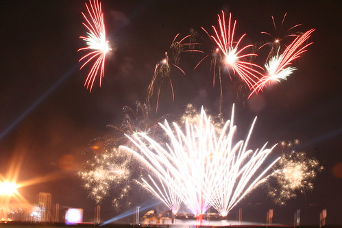 a pyrotechnic display