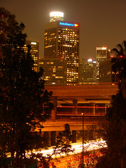 Los Angeles::Four Level Interchange (mike_s_etc) Tags: night losangeles 110 101 hollywood freeway southerncalifornia interchange hollywoodfreeway city1 lightstream pasadenafreeway fourlevelinterchange