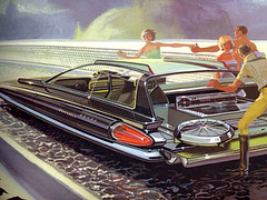 Syd Mead concept design for US Steel (Grain Edit.com) Tags: cars modern illustration design graphics automobile drawings books 1960s ussteel futuristic midcentury concepts spaceage sydmead
