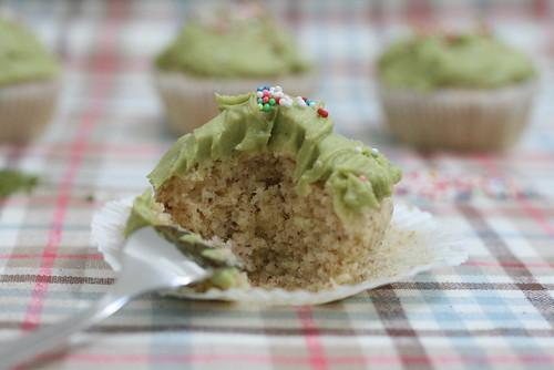 Cupcake amande & matcha en coupe
