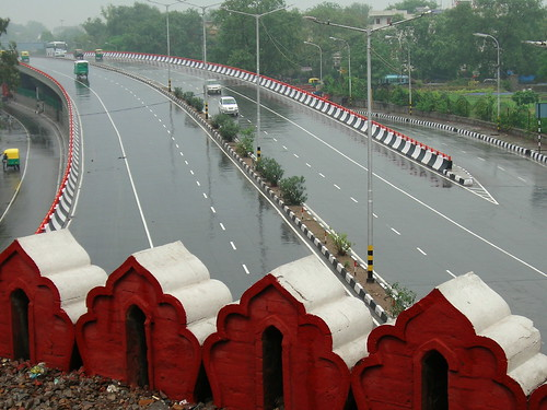 Delhi Flyovers Pictures a Delhi Flyover on Rainy
