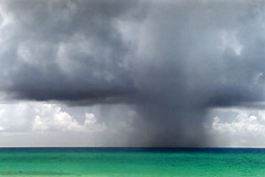 Thunderstorm over the Gulf of Mexico (StevenM_61) Tags: ocean sea storm gulfofmexico rain clouds 2000 florida thunderstorm pensacola pensacolabeach gulfislandsnationalseashore