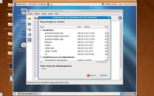 Yumex récupérant des logiciels