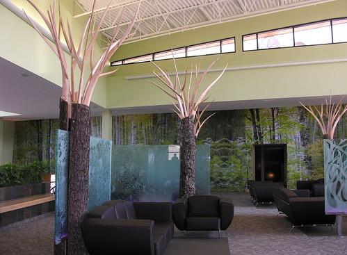 can't see the lobby for the trees (anniedaisybaby) Tags: tourism resort manitoba spa interlake worththetrip heclaisland mikley frontlobby heclaoasisresort handcarvedtrees