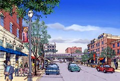 a transit-oriented neighborhood visioned for the Fairmount/Indigo line (courtesy Goody Clancy)
