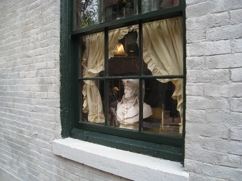 Bust in the window