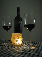 Sobremesa - After Dinner (jazzzz   ) Tags: red glass dinner candle wine crystal vela cena copas vino tinto diamondclassphotographer flickrdiamond