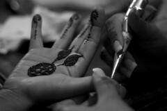 Mendhi Decorating (amchu) Tags: art design hands pattern indian fingers creative style palm decorating henna preperation mehndi mendhi