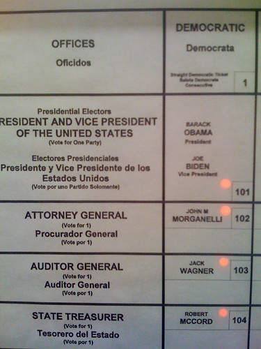 the top half of my ballot