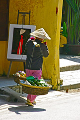 Fruit seller in Old town, Hoi An (Beyond Kimchee) Tags: vietnam hoian oldtown fruitseller asiavietnamtravelphotolocallife