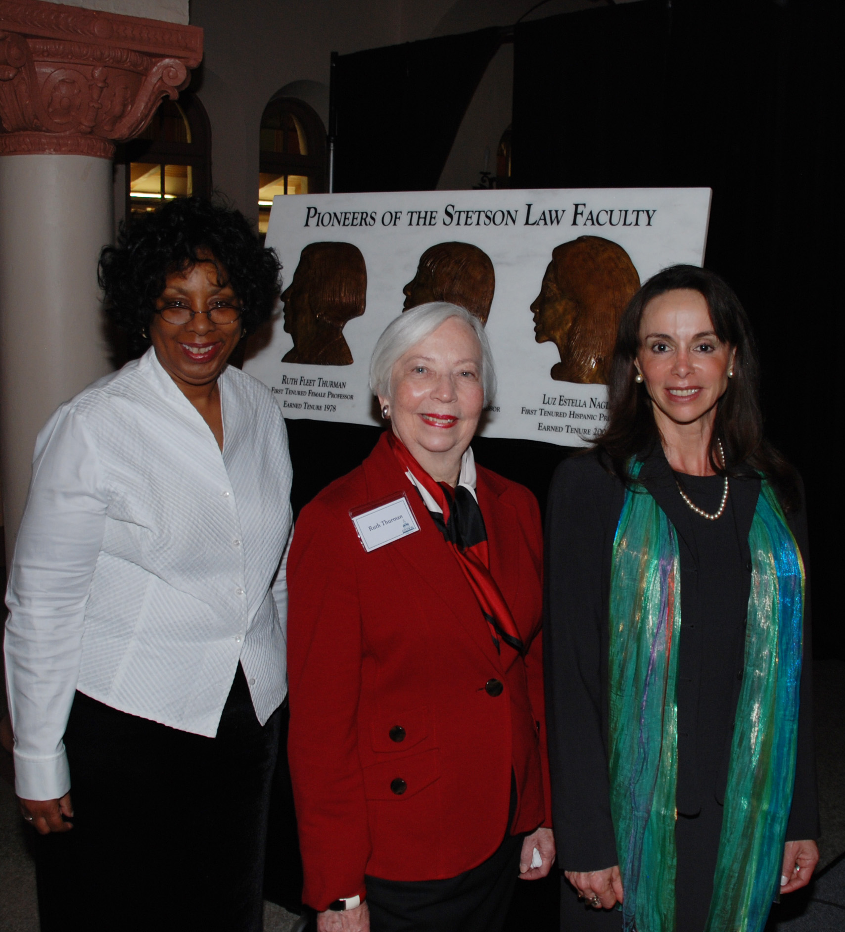 9c7cf59c (L-R): Stetson Law pioneering educators Professor Dorothea Beane, Ruth  Thurman, and
